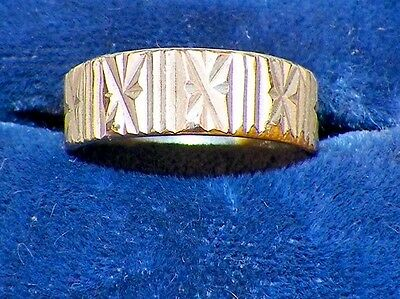 Silverplate Friendship Ring Size 6 Vintage Stars Ribs Some Wear on Inside
