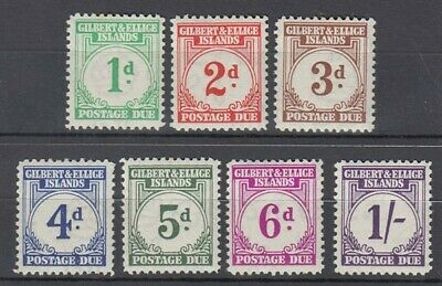 Gilbert And Ellice Islands 1940 Postage Dues Short Set To 1/- Lhm Id G3155