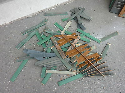 LOT of salvaged WOODEN victorian SHUTTER slats GREAT 4 ART painting projects