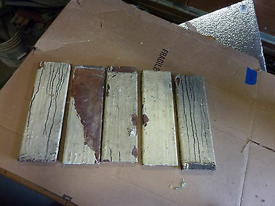 "lot 5 victorian corner BASE molding PLINTH blocks MAHOGANY 14"" h x 4.5"" w x 1"""