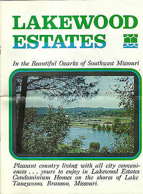 Brochure for Lakewood Estates Lake Taneycomo Branson Missouri Ozarks