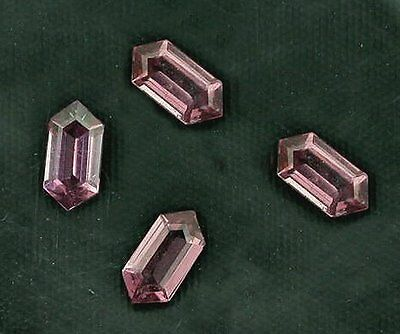 2 - 6x3 Fancy Tapered Hexagon Marquise Custom  Rhodolite To Red Garnet 6mm x 3mm