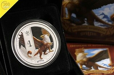 Tuvalu Mythical Creatures Griffin 1 Unze oz Silber PP 2013