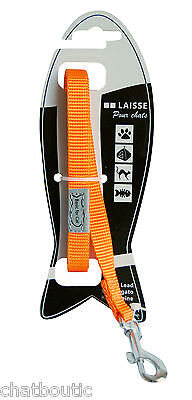 Laisse chat Basic line Orange - 1,20 M (124944OR)