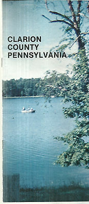 Vintage Brochure for Clarion County Pennsylvania 1978