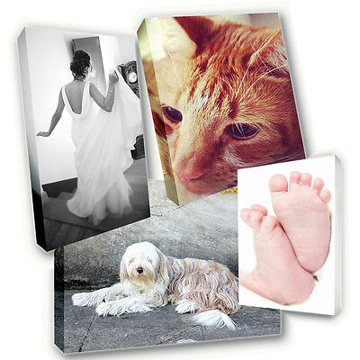 "Personalised 20"" x 20"" Canvas Print - Your Photo Image Printed & Box Framed"