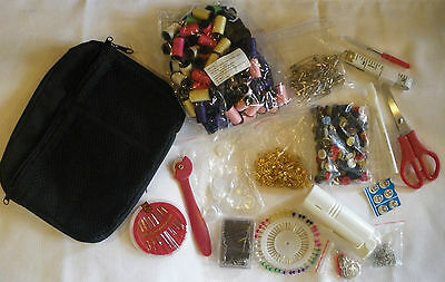 1000 Piece Sewing Kit in Travel Pouch
