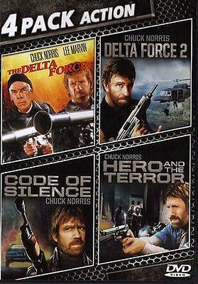 Delta Force / Delta Force 2 / Code of Silence / Hero and the Terror (DVD) NEW