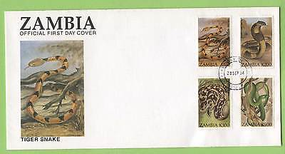 Zambia 1994 Snakes set on First Day Cover