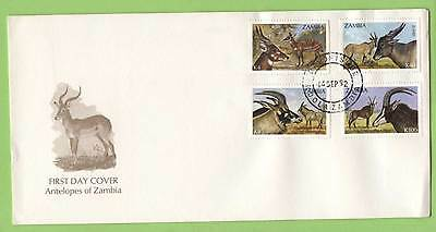 Zambia 1992 Antelopes set on First Day Cover