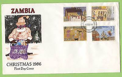 Zambia 1986 Christmas set on First Day Cover