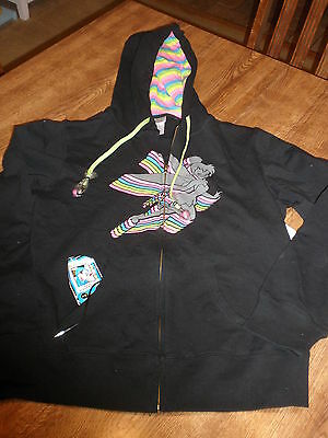 DISNEY STORE TINKERBELL HOODIE WITH AUDIO DEVICE EAR BOBS JUNIOR SIZE XL NEW
