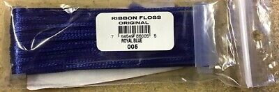 Ribbon - YLI Original Rayon Ribbon Floss - 2mm Wide x 13.5m Long - Royal Blue 05