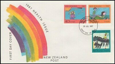 NEW ZEALAND FDC 1987 HEALTH SET OF 3 STAMPS ID 020/FH157