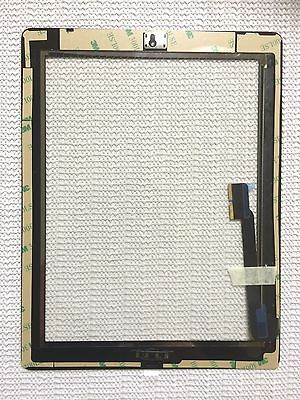Black Adhesive Replacement Digitizer Touch Screen Glass For iPad 4 4th US Seller