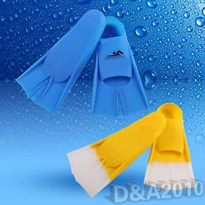 Swimming Snorkeling Scuba Diving Swim Silicone Flippers Fin Kids & Adults S/M/L