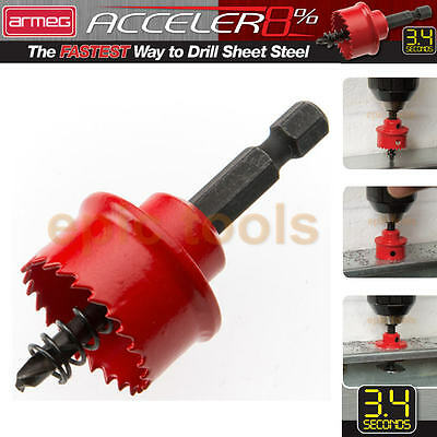 ARMEG ACCELER8 Impact HSS Cobalt Sheet Metal Holesaw Drill, 20,22,25,32mm & Set