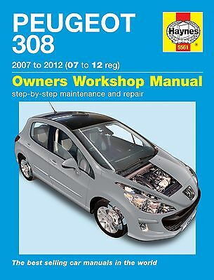 Haynes Workshop Car Repair Owners Manual Peugeot 308 Petrol And Diesel 07 - 12
