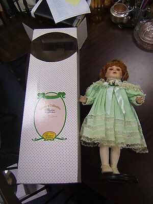 """Treasury Collection Paradise Galleries Premium Edition Collectors Doll Green 22"""""""