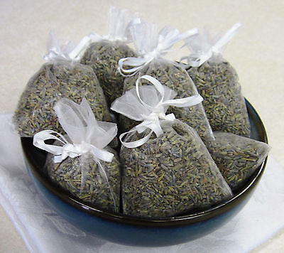 Set of 11 Lavender Sachets made with White Organza Bags