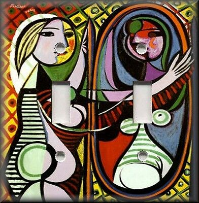 Metal Picasso Art Light Switch Plate Cover - Mirror Girl Picasso Art Home Decor