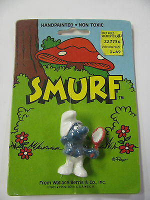 NEW VINTAGE SMURF WALLACE BERRIE & CO 1982 VANITY  SCHLEICH PEYO