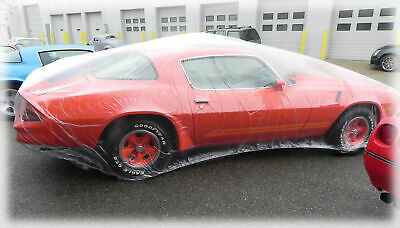 CHEVELLE CAMARO CORVETTE  plastic car cover, dust cover, rain cover 3 COVERS