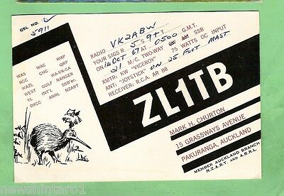 #d32. Qsl Card - 1967  Radio Contact Card - Zl1Tb, Pakuranga, Auckl. New Zealand