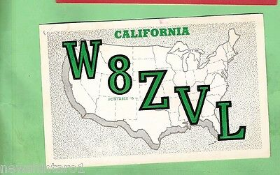 #d32. Qsl Card - 1966  Radio Contact Card - W8Zvl, San Jose, California, Usa
