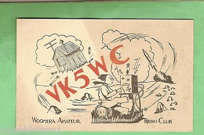 #d32. Qsl Card - 1955  Radio Contact Card - Vk5Wc, Woomera, South Australia
