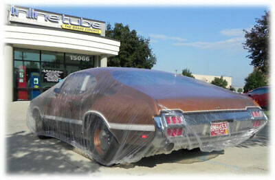 "FORD CAR 1932-1970  12x18""  plastic car cover, dust, rain, car show 2 COVERS"