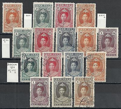 Netherland Indies 1923 NVPH 160-166 All perforations complete CANC  VF