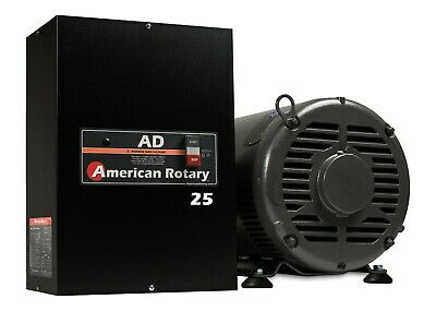 Rotary Phase Converter AD25 - 25 HP Digital Controls Heavy Duty CNC Made in USA