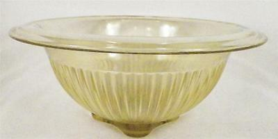 Golden Glow Mixing Bowl Amber Depression Glass Federal Nesting