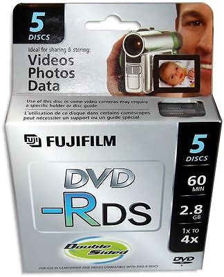 5-Pak =FUJIFILM= Mini DVD-R =Double Sided= 2.8GB 60-Min for Sony Camcorders