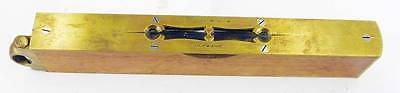 """W Marples & Sons Hibernia 10"""" brass and timber sighting level, vials are good,"""