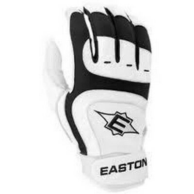 1 Pair Easton SV12 Pro Large Black Youth Leather Batting Gloves New In Wrapper!