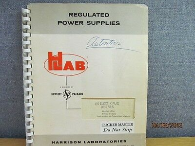 Agilent/HP 800A Power Supply Instruction and Operating Manual/schematic