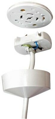 Eterna - Cr10Pw - Pre-Wired Plug In Ceiling Rose