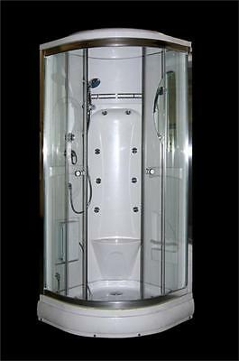SHOWER CABIN ENCLOSURE CUBICLE MASSAGE QUAD CORNER 80cm, 800mm, 90cm, 900mm