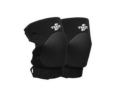 Trace Knee Pads with Strap in Black Pro Wrestling Gear Attire or Training Wear