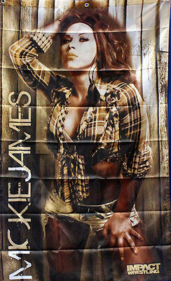 Autographed Official TNA Impact Wrestling Mickie James 3ft x 5ft Banner