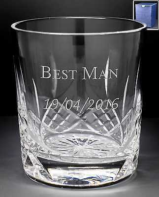 Personalised 8oz Crystal Iceberg Base Whisky Glass Engraved Father Of The Bride
