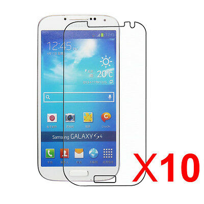 10Packs Clear Reusable Screen Protector for Samsung Galaxy S IV / S4 i9500