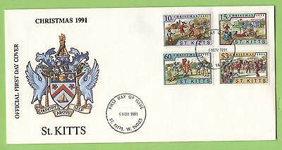 St. Kitts 1991 Christmas set on First Day Cover