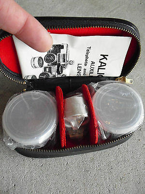 Vintage Kaligar Auxiliary Telephoto and Wide Angle Lenses New in Case