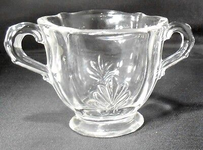 FOSTORIA crystal BAROQUE Clear pattern 2496 Individual Open Sugar Bowl @ 2 3/4""