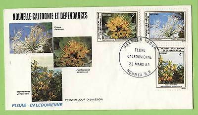 New Caledonia 1983 Flowers set on First Day Cover