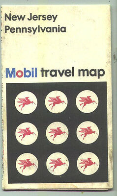 1975 Mobil Pennsylvania/New Jersey Vintage Road Map