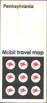 1971 Mobil Pennsylvania Vintage Road Map